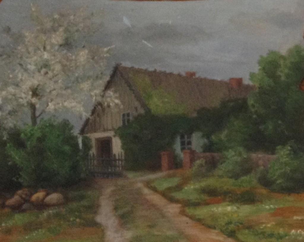 Ausschnitt aus Pfarrhausbild um 1900